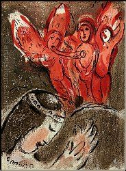 Marc Chagall: Sarah and the Angels Original Lithograph