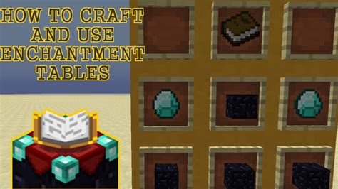 HOW TO CRAFT & USE AN ENCHANTMENT TABLE [Minecraft 1