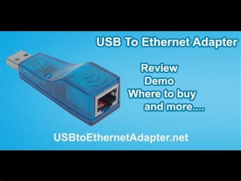 USB To Ethernet Adapter Review Demo and more - YouTube