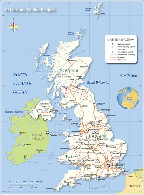Political Map of United Kingdom - Nations Online Project