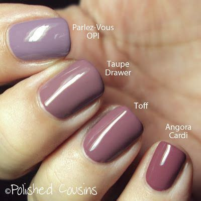 OPI Parlez-Vous OPI? vs Taupe Drawer by Pure Ice vs Toff