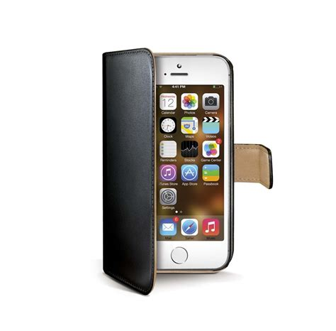 CELLY Wally Cover iPhone 5s - Black   Billig