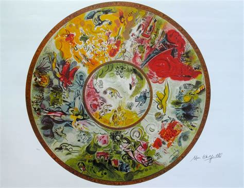 """MARC CHAGALL """"PARIS OPERA CEILING"""" Signed Numbered"""