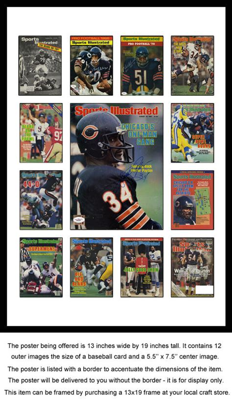 Chicago Bears Sports Illustrated Cover Collection Poster