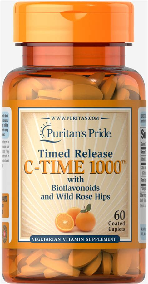 Vitamin C-1000 mg with Rose Hips Timed Release 60 Caplets