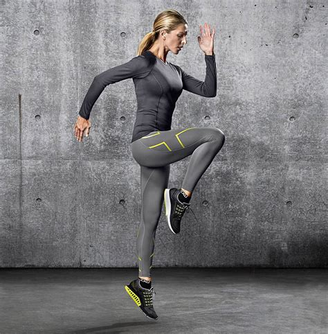 2XU Mid-Rise Compression Tights Womens Slate/Lime Light