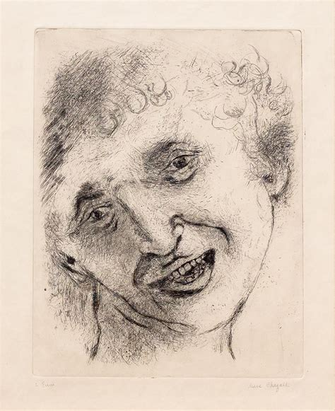 Marc Chagall - Self Portrait with a Laughing Expression