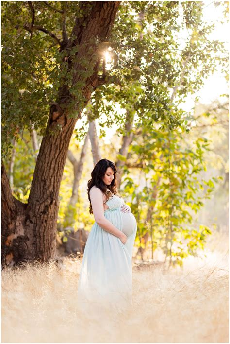 Kristen's Romantic Wooded Maternity Session   Just Maggie