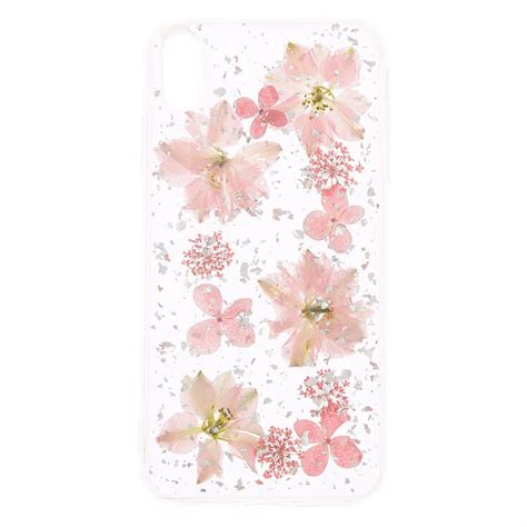 Clear Pressed Flower Phone Case - Fits iPhone XS Max